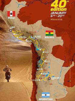 Дакар-2018, маршрут