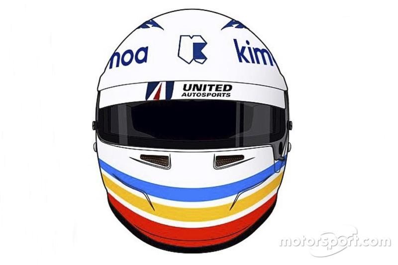 Casco especial de Fernando Alonso para las 24h de Daytona