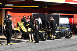 The car of Carlos Sainz Jr., Renault Sport F1 Team R.S. 18