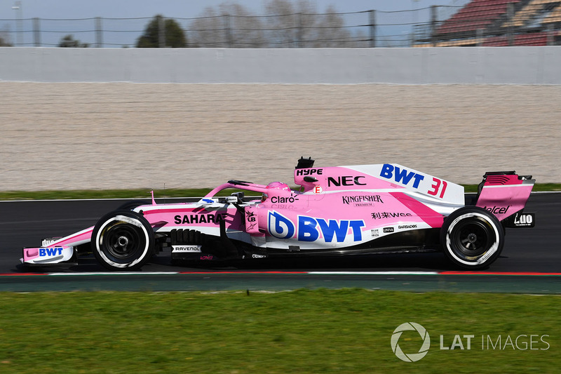 8º Force India VJM11: 711 vueltas.