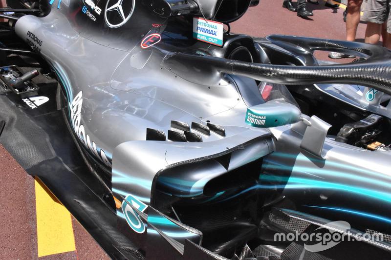 メルセデスAMG F1 W09 サイドポッド