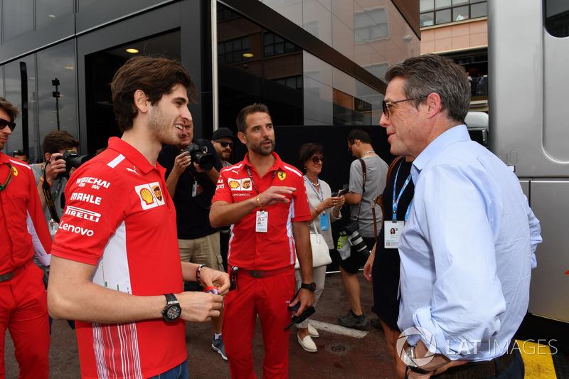 Antonio Giovinazzi, Ferrari, Hugh Grant