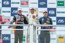 Podium: Anthoine Hubert, Van Amersfoort Racing Dallara F312 - Mercedes-Benz, Lance Stroll, Prema Pow