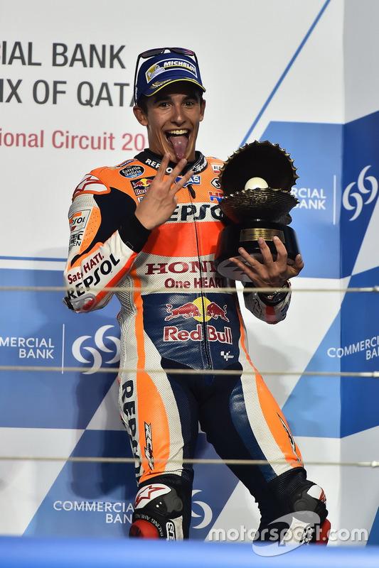 Podium: third place Marc Marquez, Repsol Honda Team, Honda