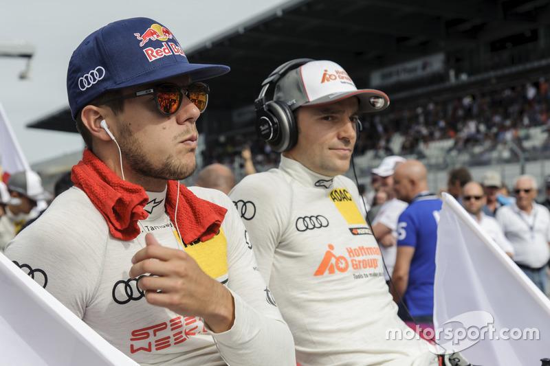 Adrian Tambey, Audi Sport Team Rosberg, Audi RS 5 DTM; Jamie Green, Audi Sport Team Rosberg, Audi RS