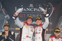 Podium: winner #33 Belgian Audi Club Team WRT Audi R8 LMS GT3: Enzo Ide, Christopher Mies
