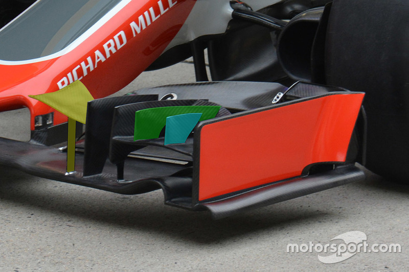 Haas F1 Team VF-16 front wing detail