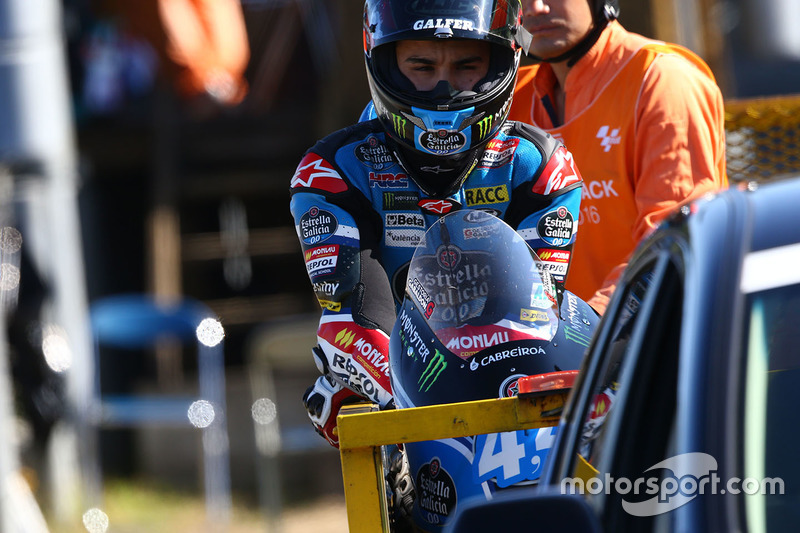 Aron Canet, Estrella Galicia 0,0 after his crash