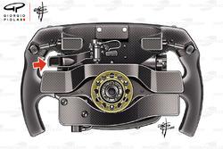 Sebastian Vettel, Ferrari SF71H steering wheel rear detail