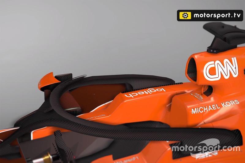 McLaren MCL32 con el halo