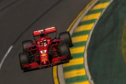 Sebastian Vettel, Ferrari SF71H action