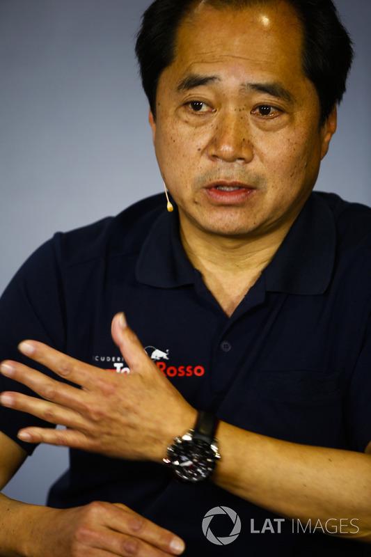 Toyoharu Tanabe, director técnico de F1 de Honda en la conferencia de prensa