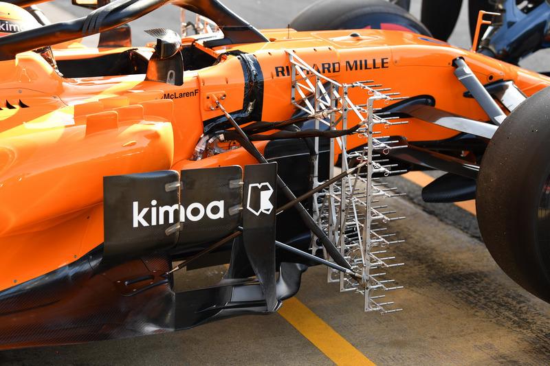 Stoffel Vandoorne, McLaren MCL33 aero sensörü