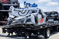 The crashed car of William Byron, Hendrick Motorsports, Chevrolet Camaro