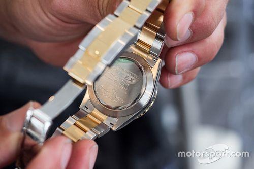 Scott Pruett's 2011 winning Rolex watch