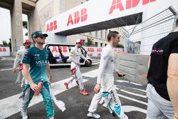 Себастьен Буэми, Renault e.Dams, Том Бломквист, Andretti Formula E Team, и Даниэль Абт, Audi Sport ABT Schaeffler