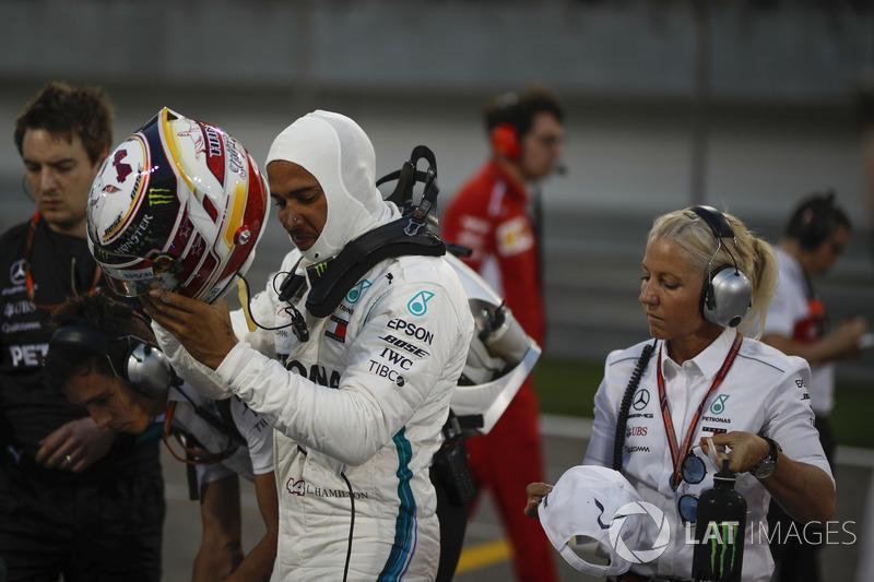 Lewis Hamilton, Mercedes-AMG F1 on the grid