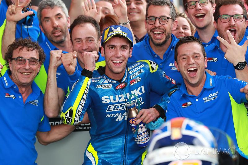 Podium ketiga Alex Rins, Team Suzuki MotoGP