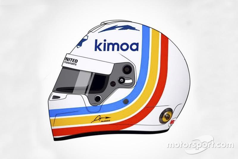 Helm spesial Fernando Alonso di Daytona 24 Jam