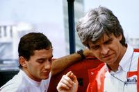 Ayrton Senna, McLaren con Steve Nichols, Designer McLaren