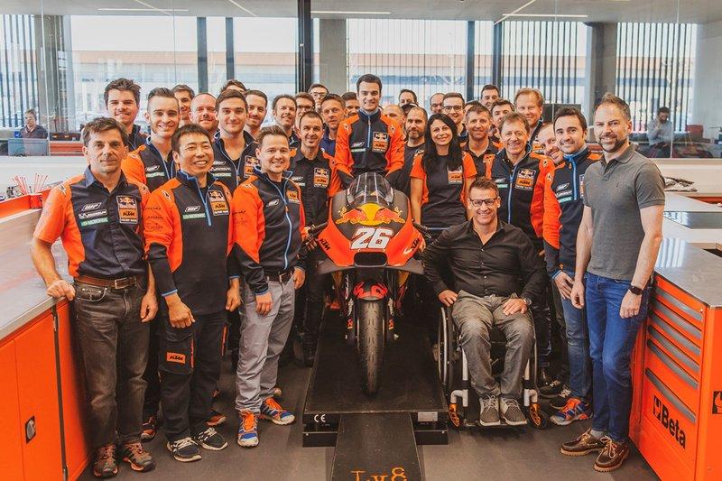 Dani Pedrosa, Red Bull KTM Factory Racing piloto de prueba