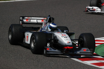 Mika Hakkinen, McLaren MP4-13 at Legends F1 30th Anniversary Lap Demonstration