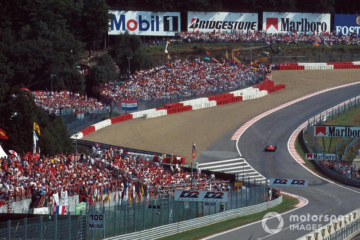 Eau Rouge featured gravel traps in the 90s