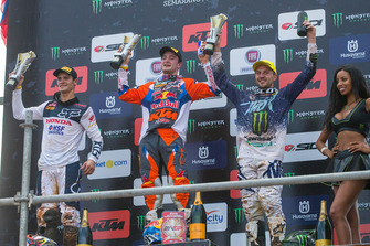 Tim Gajser Team HRC, Jeffrey Herlings KTM Factory Racing, Clement Desalle Kawasaki
