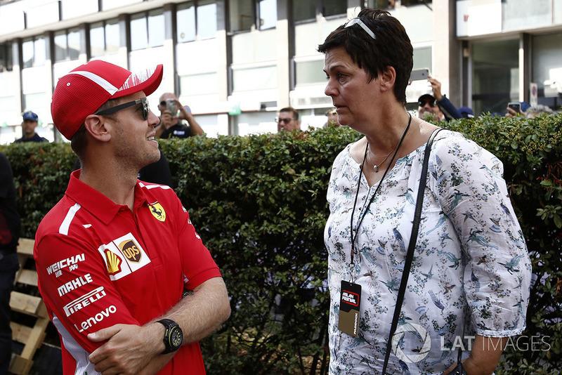 Себастьян Феттель, Ferrari, зі своєю матір'ю Хайке Феттель