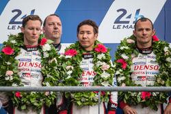 LMP1 podium: second place #6 Toyota Racing Toyota TS050 Hybrid: Stéphane Sarrazin, Mike Conway, Kamu