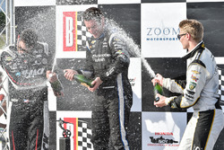 Podium: winnaar Simon Pagenaud, Team Penske Chevrolet, tweede plaats Graham Rahal, Rahal Letterman L