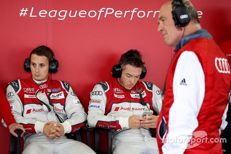 Oliver Jarvis, André Lotterer, Dr. Wolfgang Ullrich, Audi-Sport-Chef, Audi Sport Team Joest