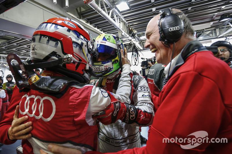 Loïc Duval, Lucas di Grassi, Audi Sport Team Joest, Dr. Wolfgang Ullrich, Head of Audi Sport