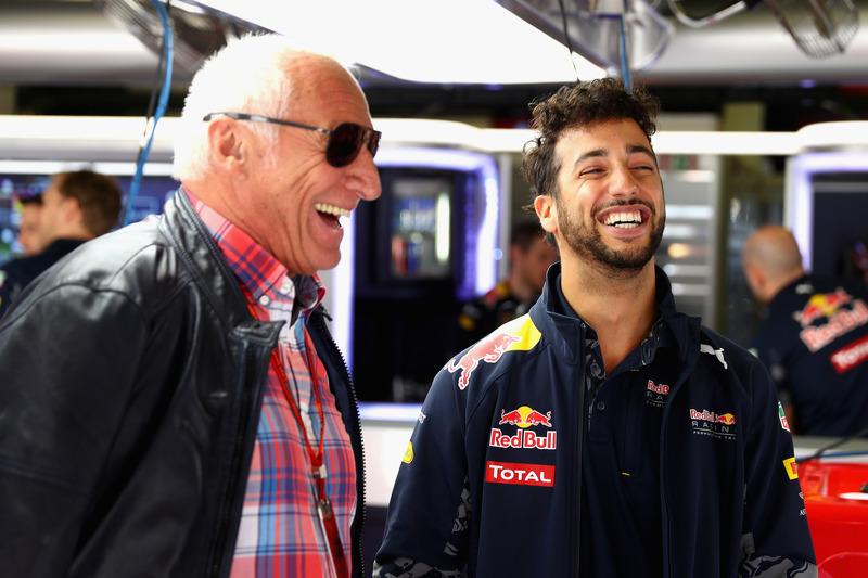 Daniel Ricciardo, Red Bull Racing und Dietrich Mateschitz, Red Bull Besitzer
