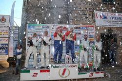 Podio: i vincitori Alessandro Taddei, Andrea Gaspari, al secondo posto Luciano Cobbe, Fabio Turco, a