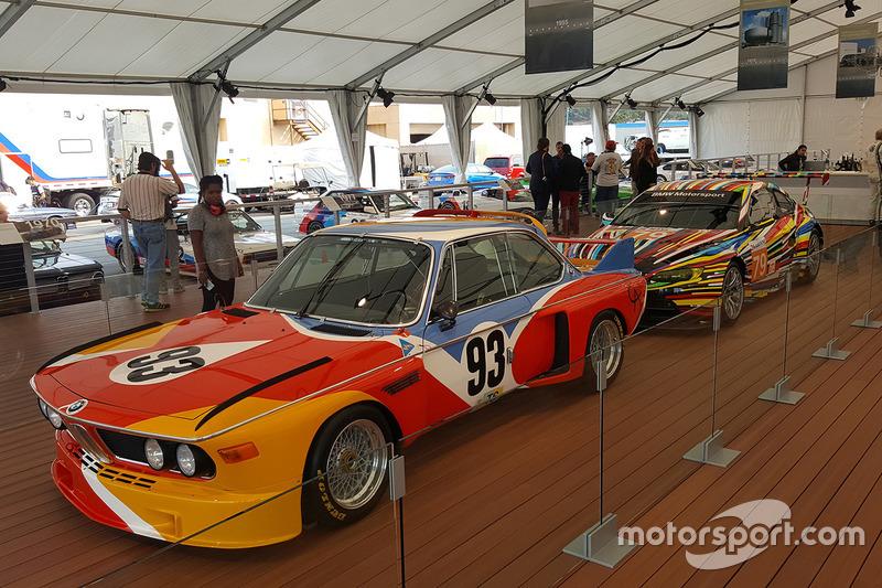 La prima e la più recente BMW Art Car: 1975 BMW 3.0 CSL by Alexander Calder, 2010 BMW M3 GT2 by Jeff Koons