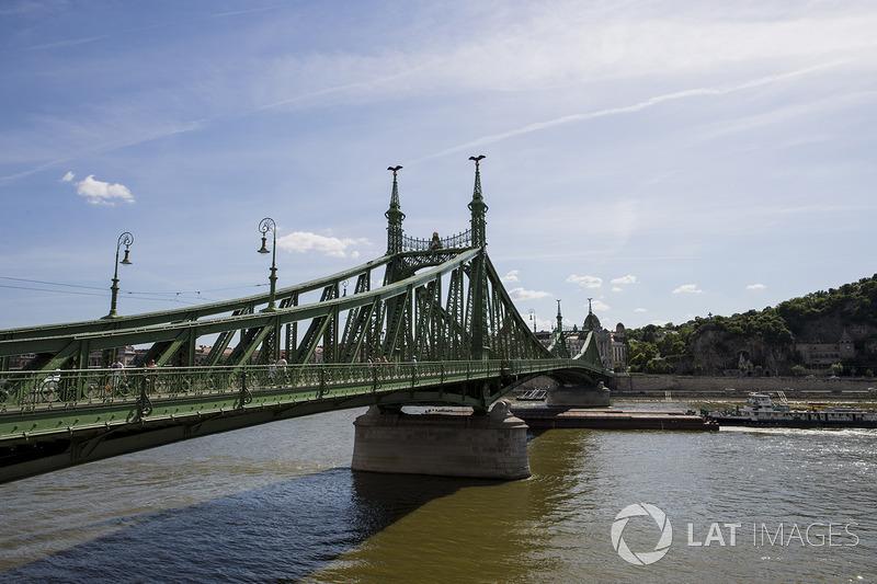 Вид на міст Свободи і річку Дунай