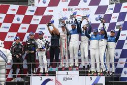 Podium Lmp2: winners #25 Algarve Pro Racing Ligier JSP2 Nissan: Andrea Roda, Aidan Read, Andrea Pizzitola, second place #8 Race Performance Oreca 03R Judd: Giorgio Maggi, Struan Moore, Fabian Schiller, third place #24 Algarve Pro Racing Ligier JSP2 Judd: Michael Munemann, Tacksung Kim, Mark Patterson
