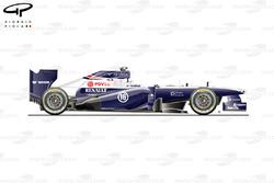 Williams FW35 side view, Brazilian GP