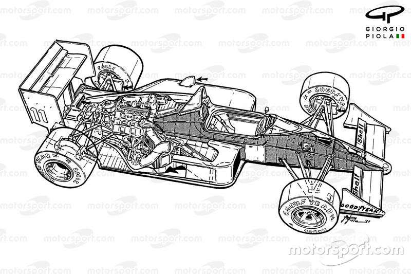 McLaren MP4-4 1988 overall view
