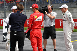 Davide Valsecchi, Sky Italia, pole Valtteri Bottas, Mercedes AMG F1, Sebastian Vettel, Ferrari, Lewis Hamilton, Mercedes AMG F1