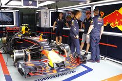 Max Verstappen, Red Bull, in the Red Bull garage