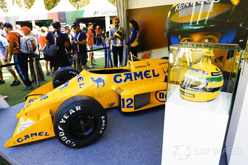 Lotus 99T of Ayrton Senna on display