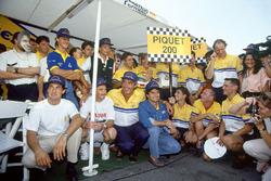 Нельсон Піке,Benetton, святкує 200-ю гонку