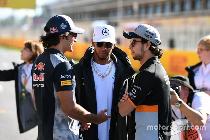 Карлос Сайнс-мл., Scuderia Toro Rosso, Льюис Хэмилтон, Mercedes AMG F1, Серхио Перес, Sahara Force India