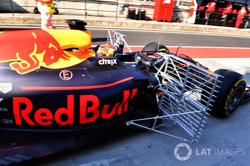 Max Verstappen, Red Bull Racing RB13, aero sensores
