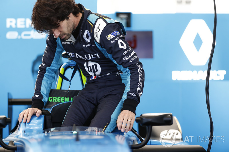 Nicolas Prost, Renault e.Dams, steigt ins Auto