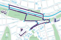 Mappa del tracciato di Santiago