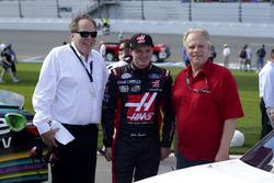 Cole Custer, Stewart-Haas Racing Ford and Gene Haas, Team owner Stewart-Haas