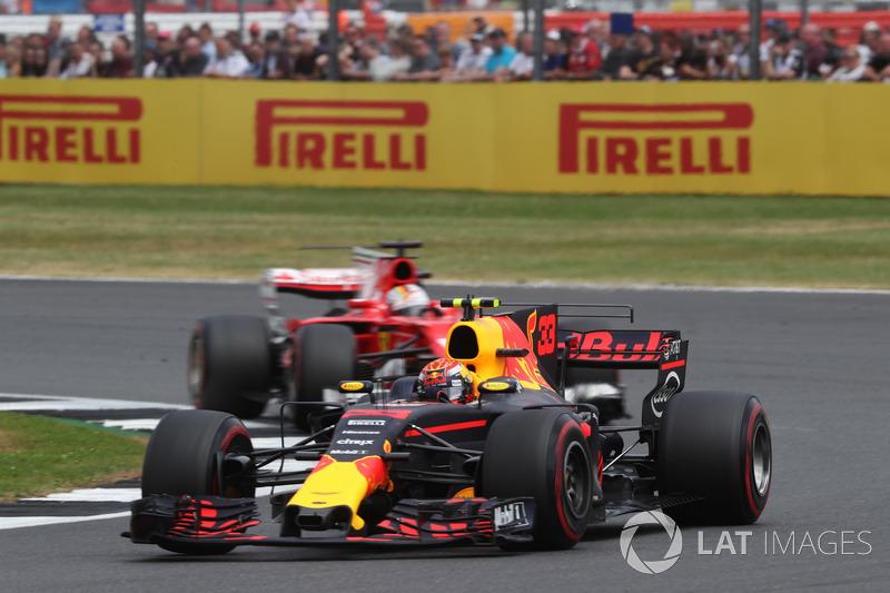 Максс Ферстаппен, Red Bull Racing RB13, Себастьян Феттель, Ferrari SF70H